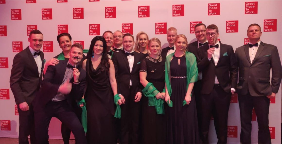 Greenled was ranked 11th at the Great Place to Work Finland 2019 gala