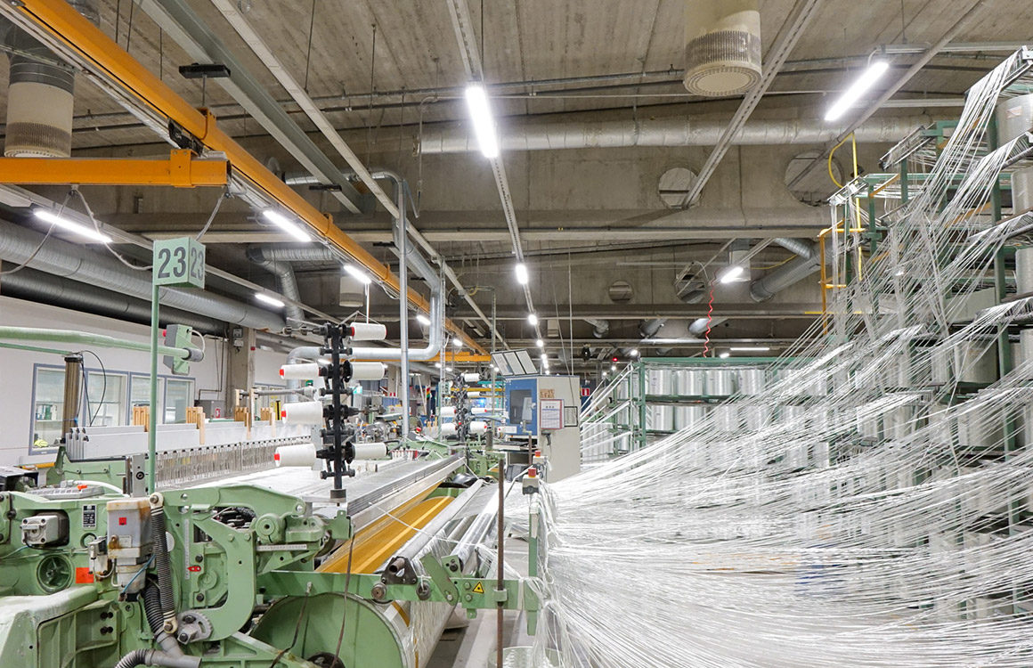 Lighting at Ahlstrom-Munksjö Glassfibre is crucial as it helps reduce mistakes and accidents, increases productivity and helps every function in the factory.