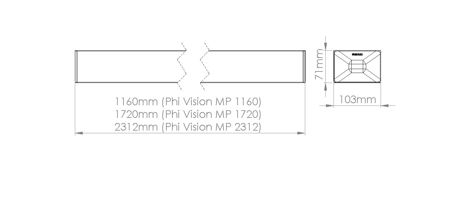 Phi Vision mittakuva