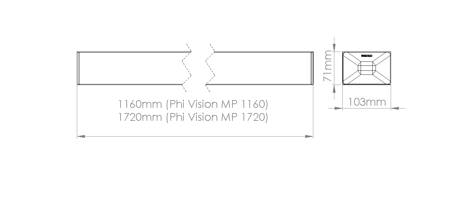Phi Vision Direct/Indirect mittakuva